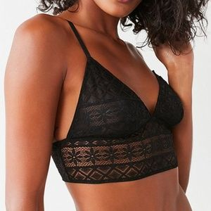 Out From Under Parker Lace Longline Bra Black